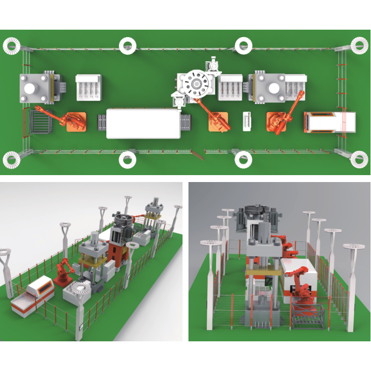 Forging automated production line (automotive semi-axle production line)